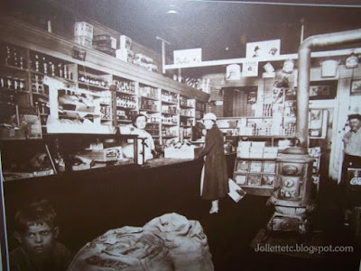 Lucille Davis in the Davis Store  http://jollettetc.blogspot.com