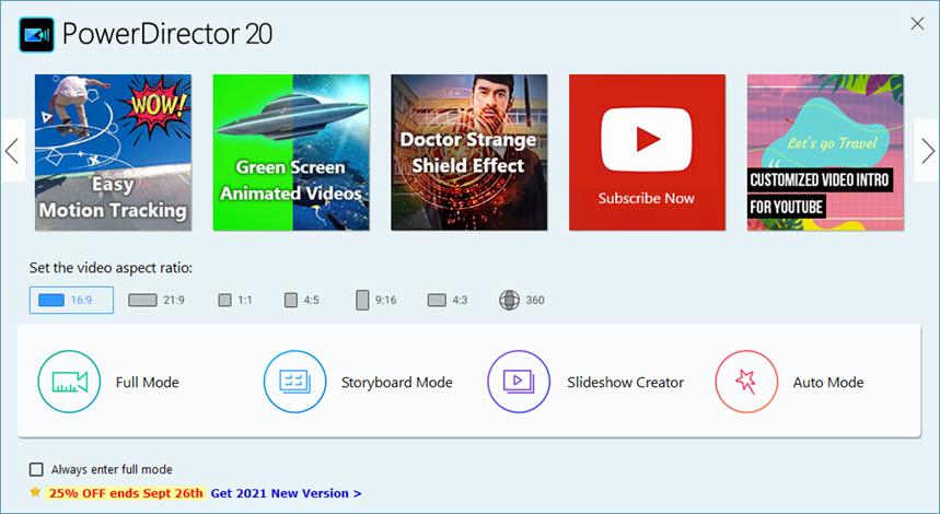 CyberLink PowerDirector Ultimate 20.0.2106.0