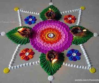 Simple Rangoli for Diwali 2019