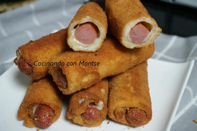 Rollitos De Salchichas Y Queso Con Pan De Molde