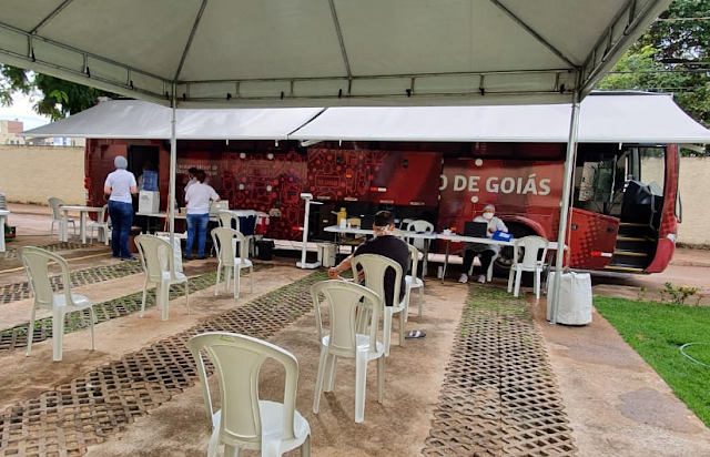 Goiânia: Hemocentro realiza coleta de bolsas de sangue em condomínio