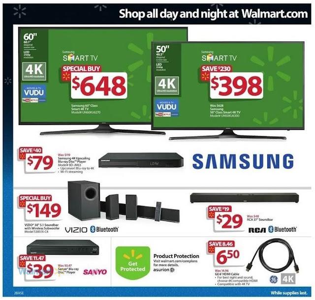 Best Buy Black Friday 2016 Walmart Samsung 60 Class Smart 4k LED TV