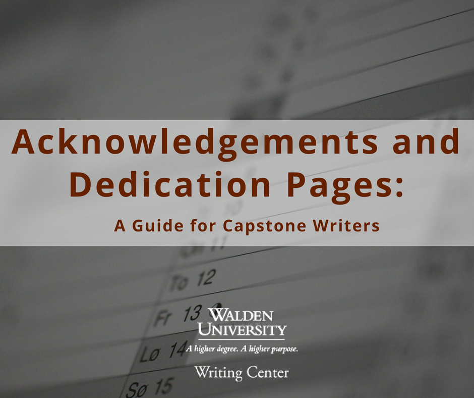 write acknowledgment page dissertation