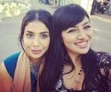 Ayesha Takia with her sister