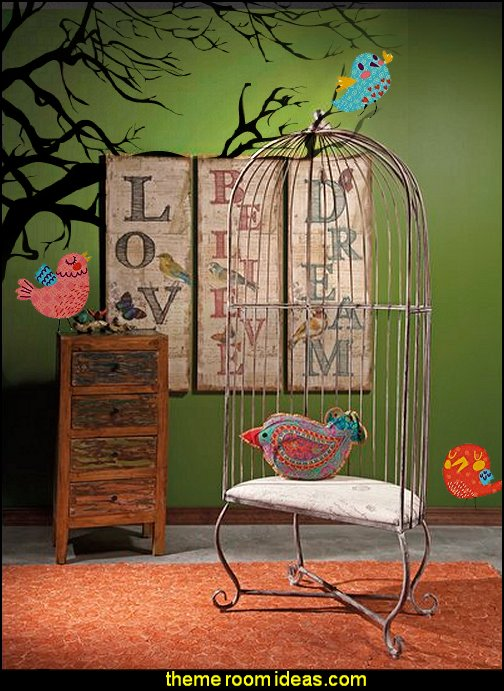 Birdcage Balloon Chair  bird theed bedrooms    birdcage bedroom ideas - decorating with birdcages - bird cage theme bedroom decorating ideas - bird themed bedroom design ideas - bird theme decor - bird theme bedding - bird bedroom decor - bird cage bedroom decor - bird cage lighting