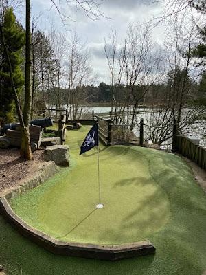 Adventure Golf on Treasure Island at Center Parcs Elveden Forest in Norfolk. Photo by Christopher Gottfried, March 2020