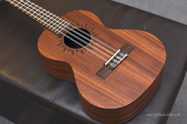 Baton Rouge V2T8 Sun 8 String Tenor ukulele body