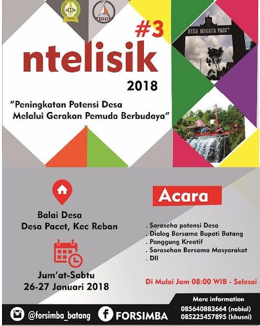 Event Batang | 26-27/01/18 | Forum Silaturahmi Mahasiswa Batang NTELISIK #3