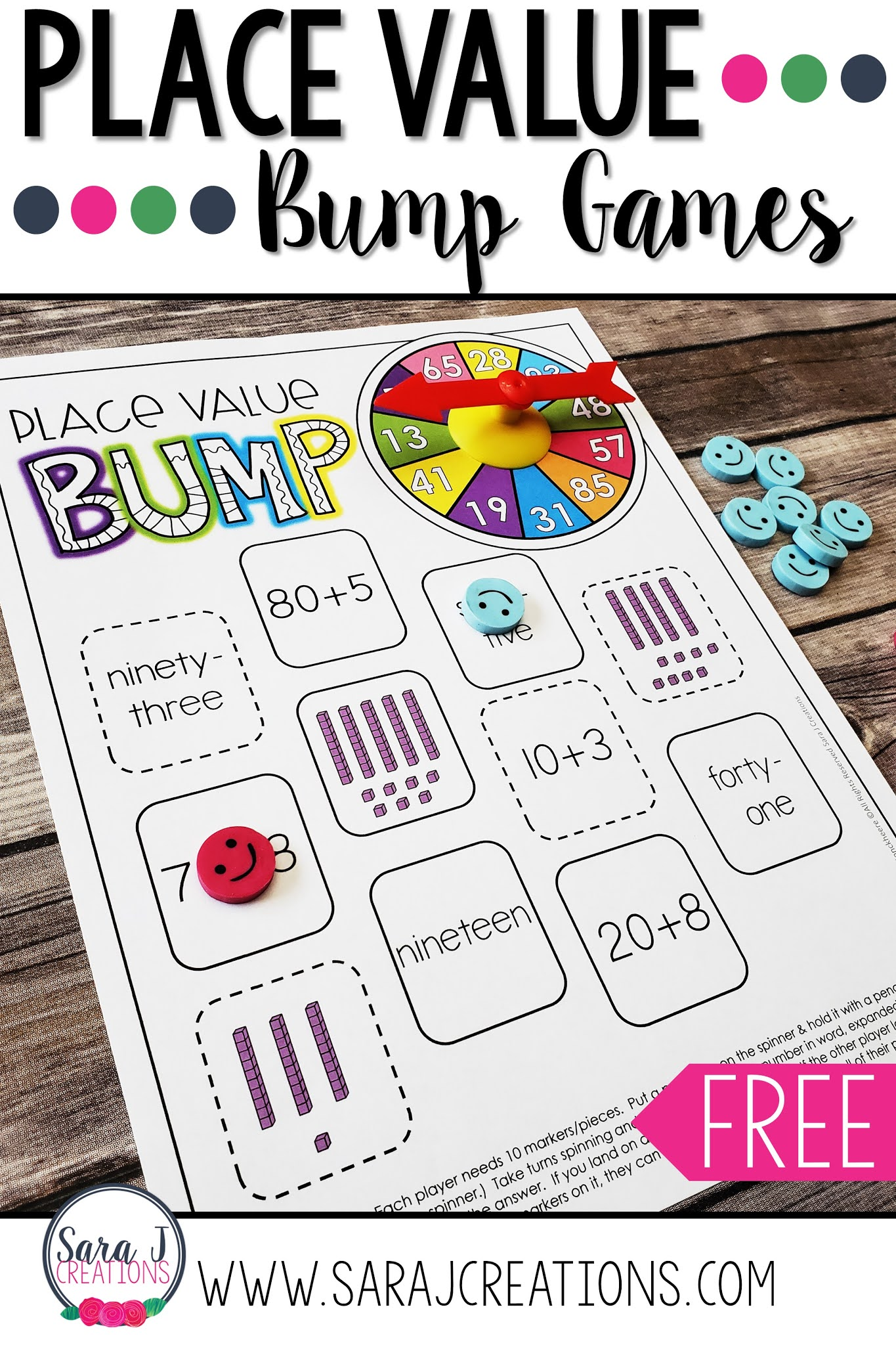 FREE place value bump game to make practicing place value a lot more fun. Perfect for math centers, fast finishers or send home for students to play at home.