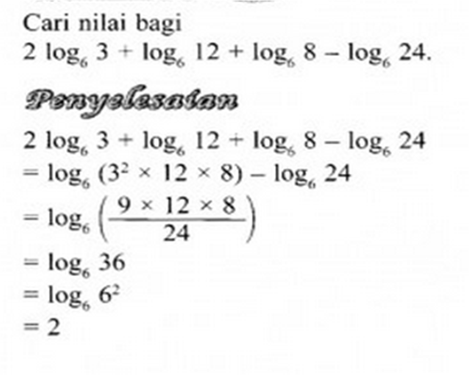 Contoh Soalan Hukum Indeks Tingkatan 3 Soalan C