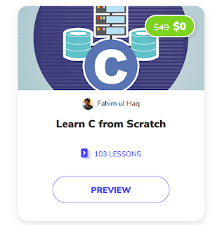 free Online Courses to learn C programming