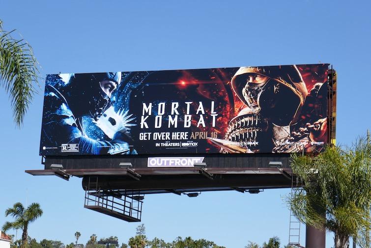 Mortal Kombat 2021 movie billboard