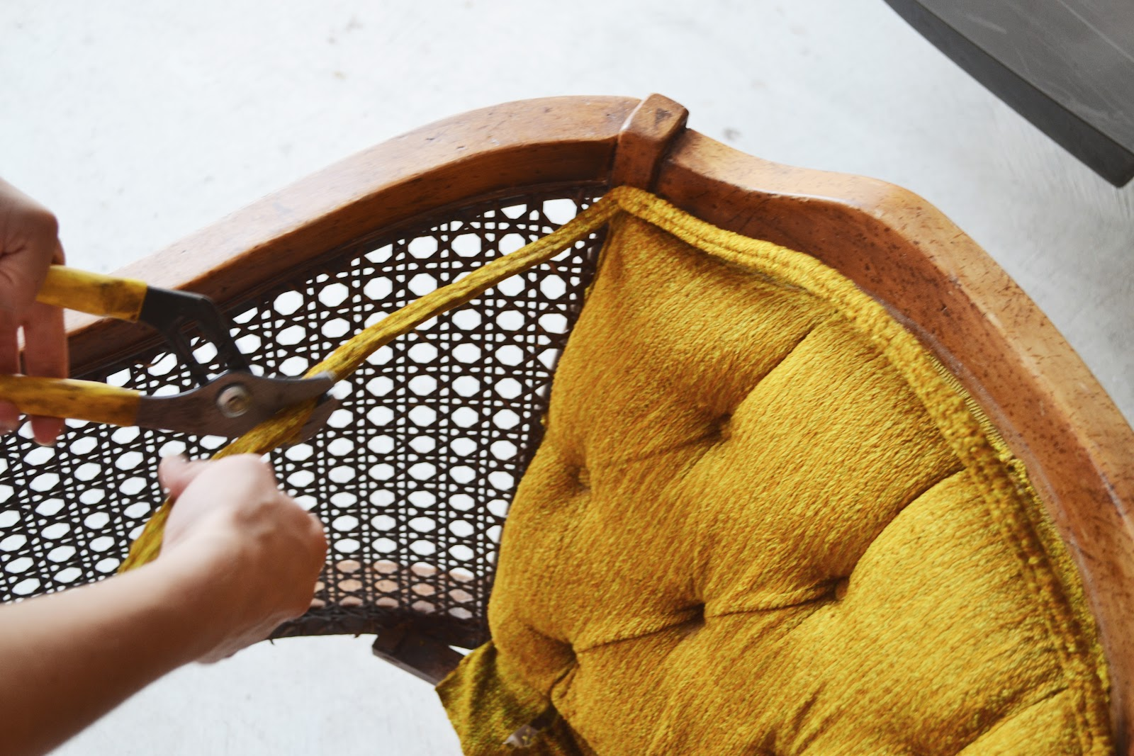 How To Replace Cane Back Chair With Fabric R Underwater Sarah M Dorsey Designs Chartreuse And White Caning