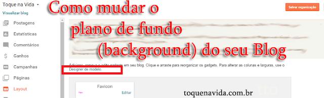 Como mudar o plano de fundo (background) do seu Blog