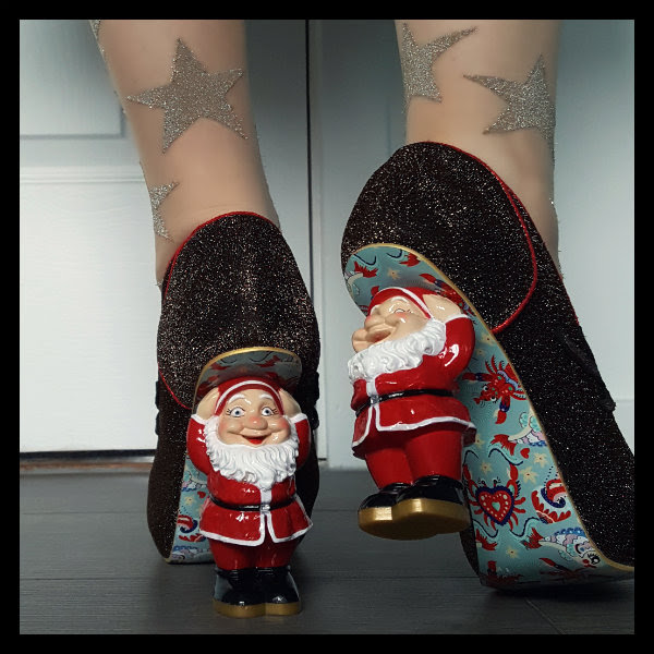 wearing irregular choice santa's ninth heels