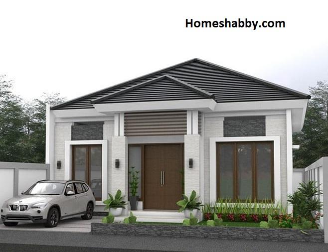 Desain Dan Denah Rumah Ukuran 10 X 20 M Dengan Eksterior Minimalis Dengan Halaman Luas Untuk Taman Agar Rumah Semakin Sejuk Homeshabby Com Design Home Plans Home Decorating And Interior Design