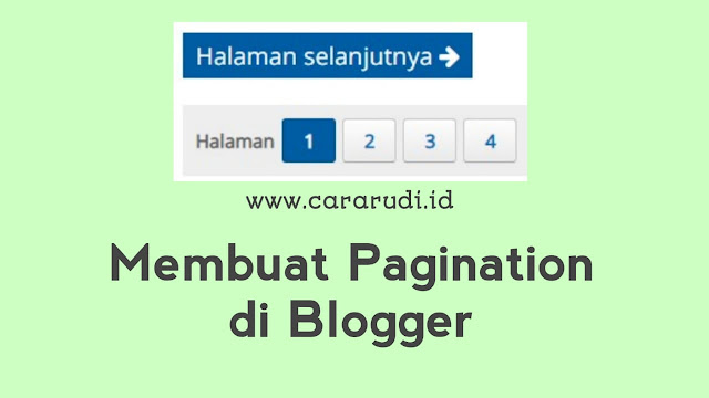 Cara Membuat Pagination di Blog