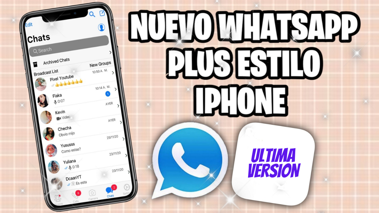 WhatsApp estilo iPhone