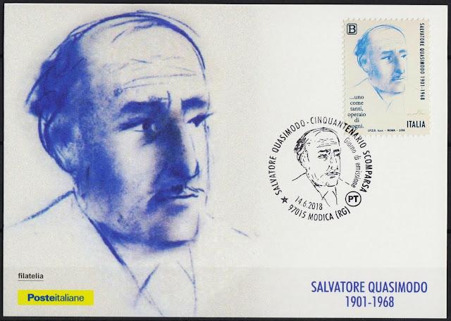 Italy 2018 Salvatore Quasimodo Writer Nobel Prize in Literature People Maxicard