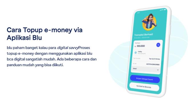 Cara Top Up E-Money Via Aplikasi Blu