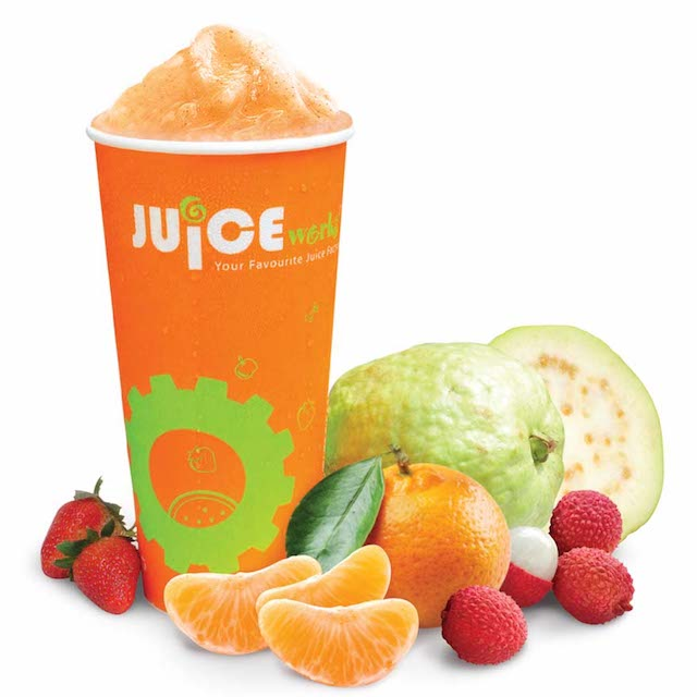 Guava, Lychee, Strawberry and Mandarin Oranges make up the new Prosperity Juice from Juice Works