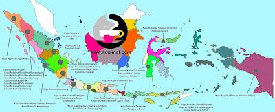 gambar peta Penghasil Jenis Kopi Spesial Indonesia