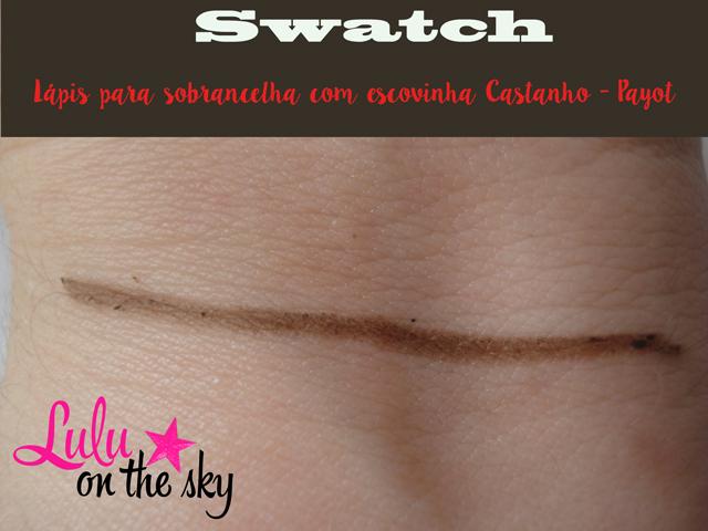 Lápis para sobrancelhas com escovinha castanho Payot - blog luluonthesky