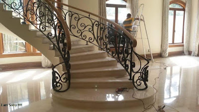 raling tangga untuk rumah klasik