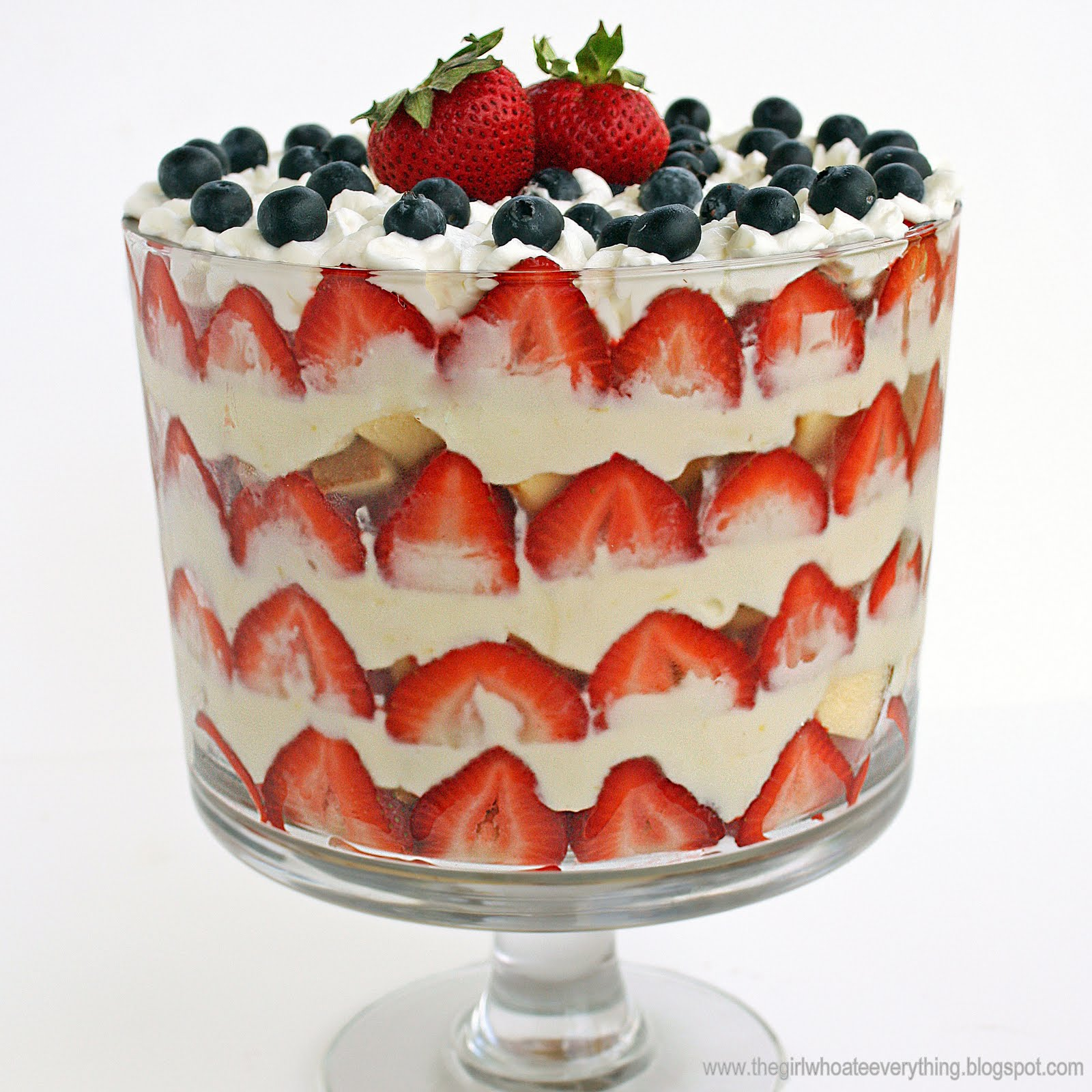 White Cake Chocolate Pudding Trifle