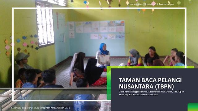 Taman Baca Pelangi Nusantara, Buah Cinta 5 Pemuda-Pemudi Desa Panca Tunggal Benawa
