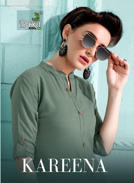 Alishka fashion Kareena Plain Straight kurtis Manufacture