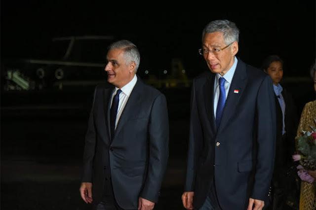 Primer ministro de Singapur llega a Armenia