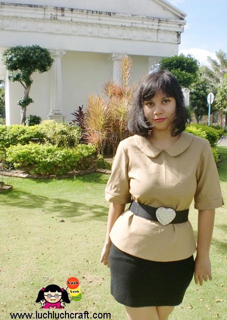 CLASTUDIO - Baju Coklat Feminim Untuk Kerja