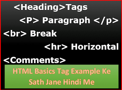 HTML basic tags with example