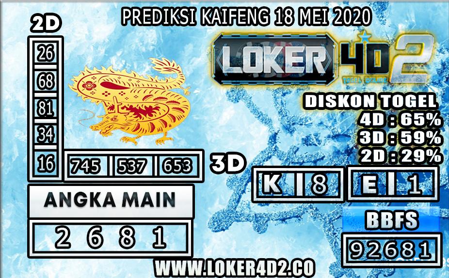 PREDIKSI TOGEL KAIFENG LOKER4D2 18 MEI 2020