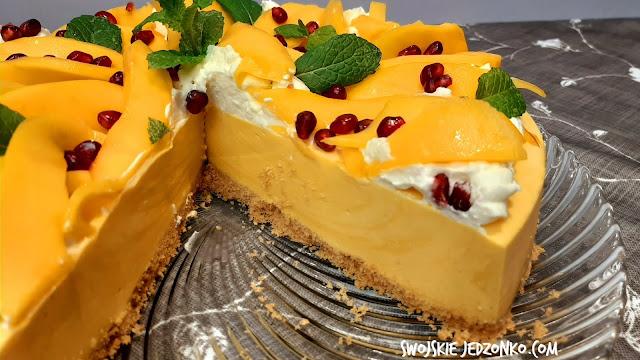 Sernik o smaku mango na zimno  - Czytaj więcej »