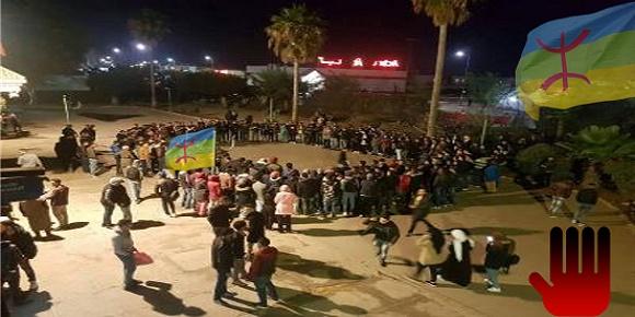 """هجوم همجي غادر لفصيل """"الطلبة القاعديين ضد الطلبة الامازيغ"""