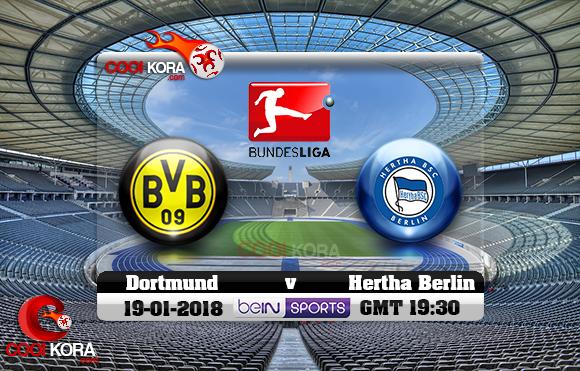 مشاهدة مباراة هيرتا برلين وبروسيا دورتموند اليوم 19-1-2018 في الدوري الألماني
