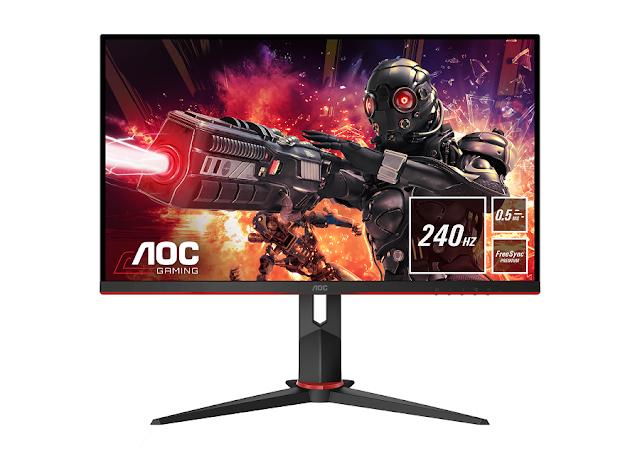 AOC lança cinco monitores competitivos de gaming da série premiada G2