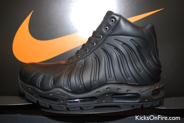 fb9bbf7cc60 Nike Air Max Foamdome Boot – Foamposite x Goadome Hybrid – Black Colorway  black
