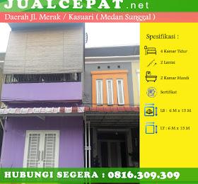 di JUAL Rumah di dalam komplek perumahan jl. Merak / Jl.kasuari <del>Rp 800.000.000,-</del> <price>Rp 750.000.000,-</price> <code>MH-KY1</code>