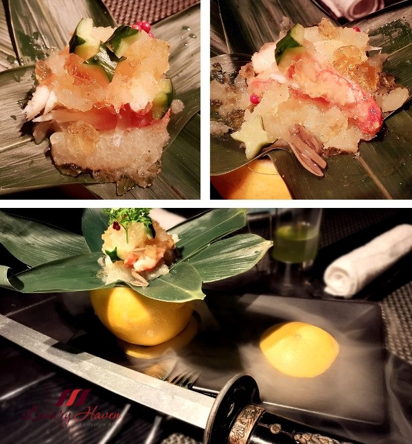 ninja akasaka magic snow crab grapefruit with sword