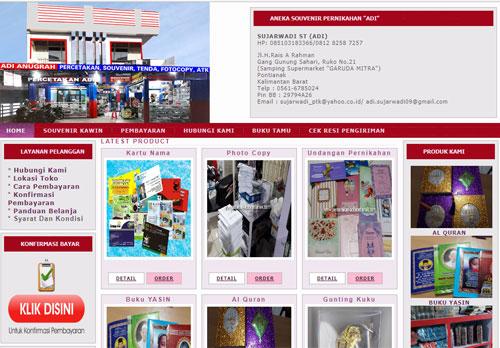 Website Souvenir Pernikahan