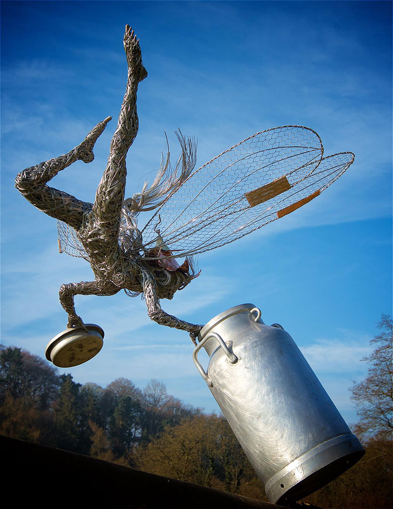 Steel Wire Fairy Sculptures by Robin Wight