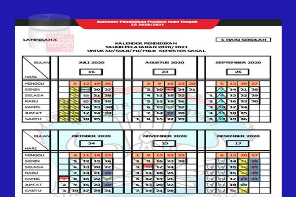 Anda Mencari Kalender Pendidikan Provinsi Jawa Tengah Tahun Pelajaran 2020-2021? Kaldik Jateng Tapel 2020/2021 bisa didownload dengan mudah disini