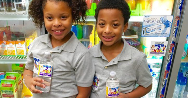 Brazil and Princeton Dowe, 8-year old founders of Water 2 Kids