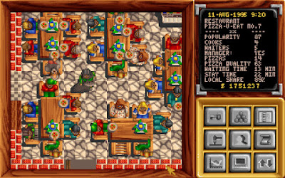 Pantallazo videojuego Pizza Tycoon
