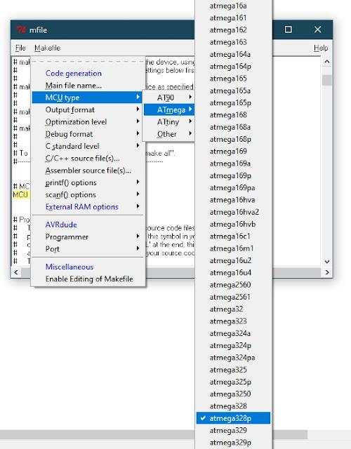 make file select mcu type