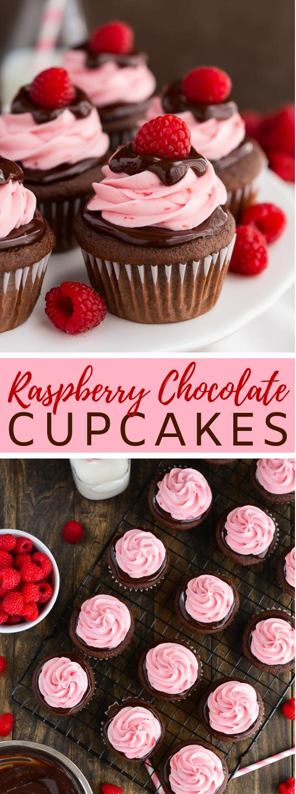 RASPBERRY CHOCOLATE CUPCAKES #dessert #cakes