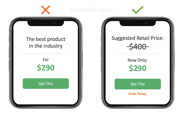 Anchoring Effect Example - The Mobile Spoon